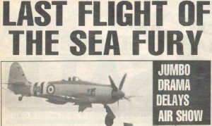 History - Sea Fury Press Cutting 510x305